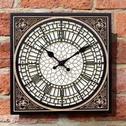 """Little Ben Clock 12"""" Detailed Garden Wall Clock And Thermometer Smart Garden"""