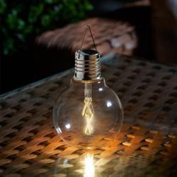 Eureka Vintage Solar Powered Light Bulb Vintage Outdoor Lighting By Smart Garden