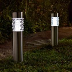 Pack Of 4 Stella Stainless Steel Bright Solar Powered Garden Post Light