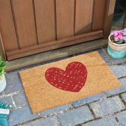 Heart Modern Design Decorative Coir Garden Or Home Doormat Smart Garden