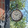 "Marylebone Station Clock 8"" Detailed Garden Wall Clock And Thermometer"