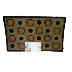 Retro Rings blue , black and brown Door Mat For Indoor Or Outdoor Use