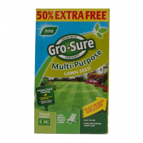 Gro-sure Multi Purpose Lawn Seed 15m2 Box