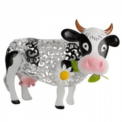 Smart Solar Metal Silhouette Daisy Cow Solar Powered