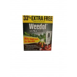 Weedol Ultra-Tough Weedkiller 8x Tubes Of Liquid Concentrate