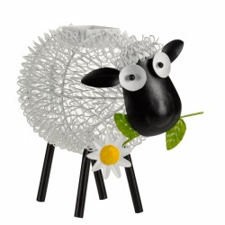 Dolly the Sheep Colour Changing Silhouette Metal Smart Solar